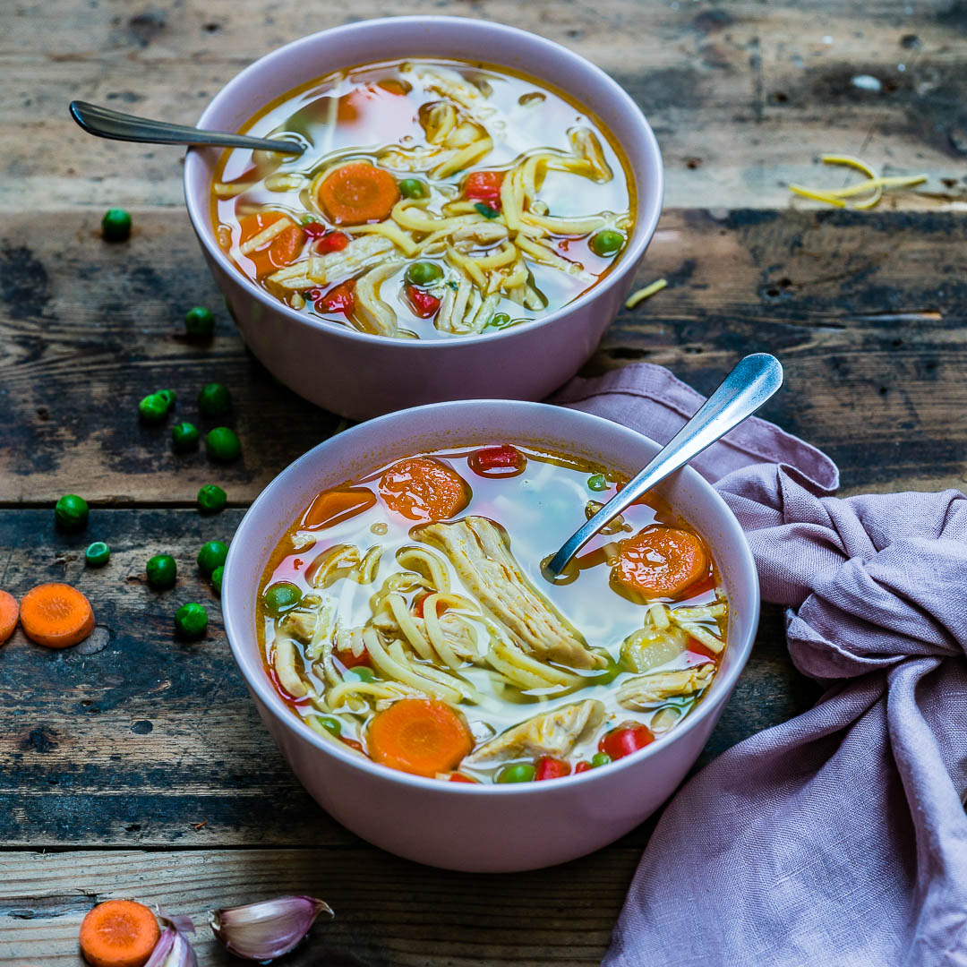 Easy Turkey Noodle Soup Recipe-15