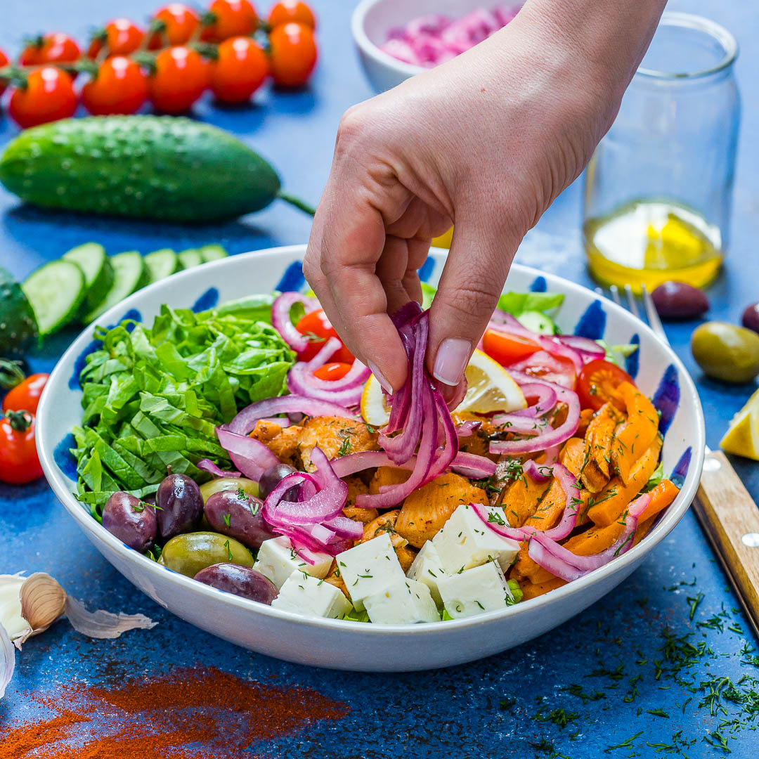 Healthy Greek Chicken Bowls - Best Meal Prep Idea-7
