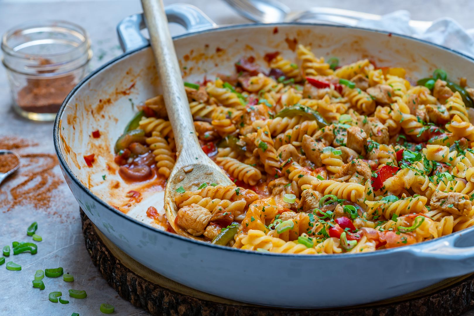 One-Pot Chicken Fajita Pasta-4