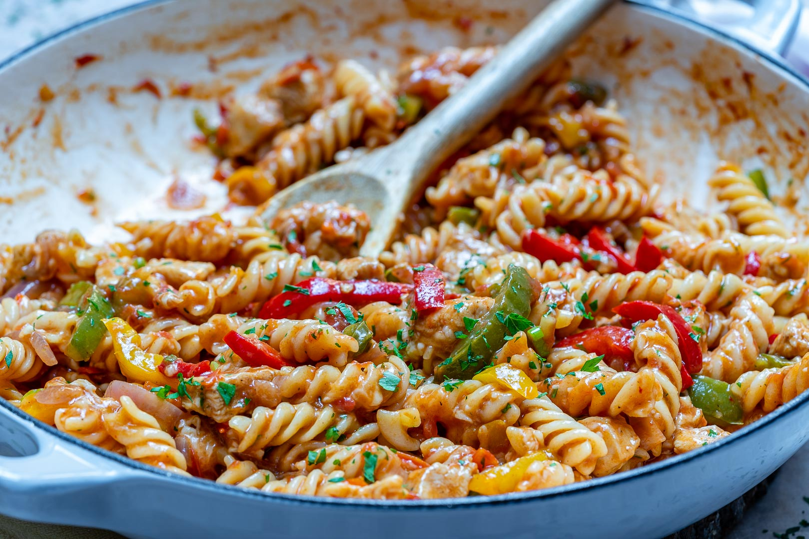 One-Pot Chicken Fajita Pasta-7