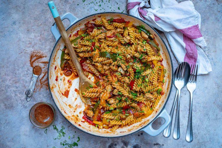 One-Pot Chicken Fajita Pasta Recipe 2