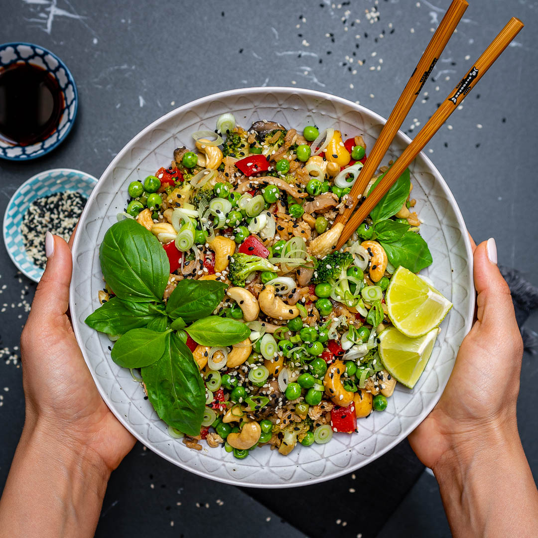 Easy Vegetable Fried Rice Recipe (With Cashews