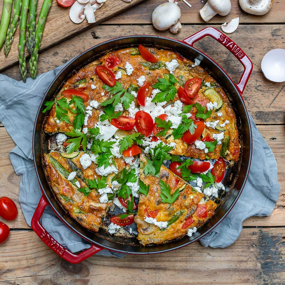 Easy Vegetable Frittata Recipe (With Eggs And Asparagus)-2