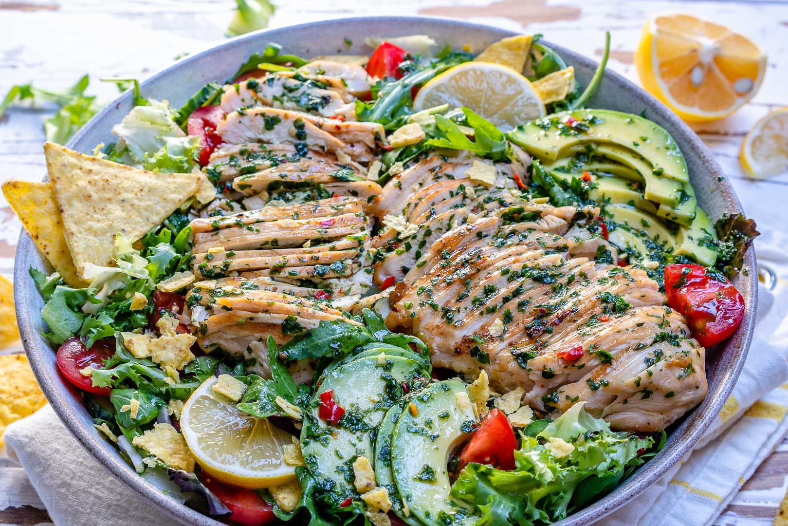Chimichurri Chicken Avocado Salad Recipe-11