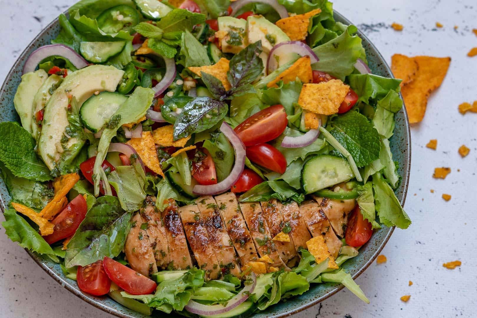 Chimichurri Chicken Avocado Salad Recipe-13