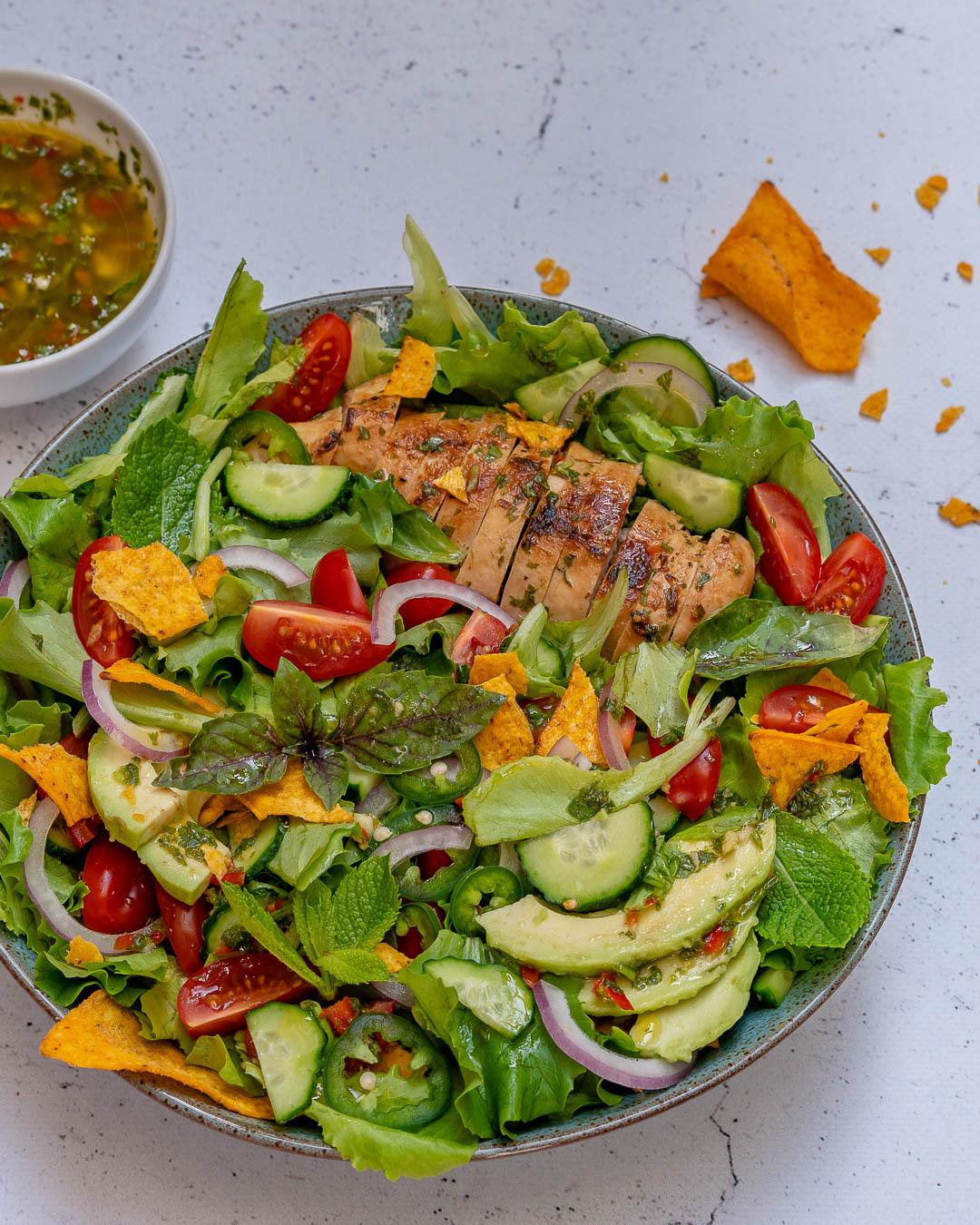 Chimichurri Chicken Avocado Salad Recipe-2