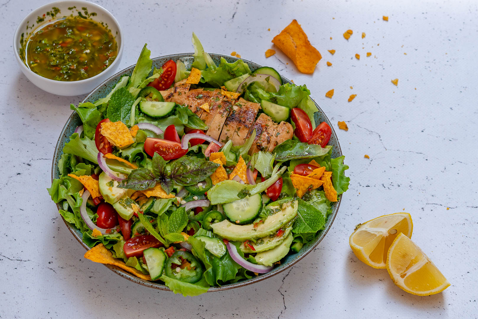 Chimichurri Chicken Avocado Salad Recipe-4
