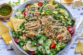 Salata De Pui Cu Avocado Si Sos Chimichurri - Reteta Video 5