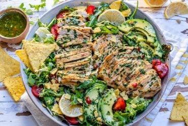 Chimichurri Chicken Avocado Salad Recipe-6