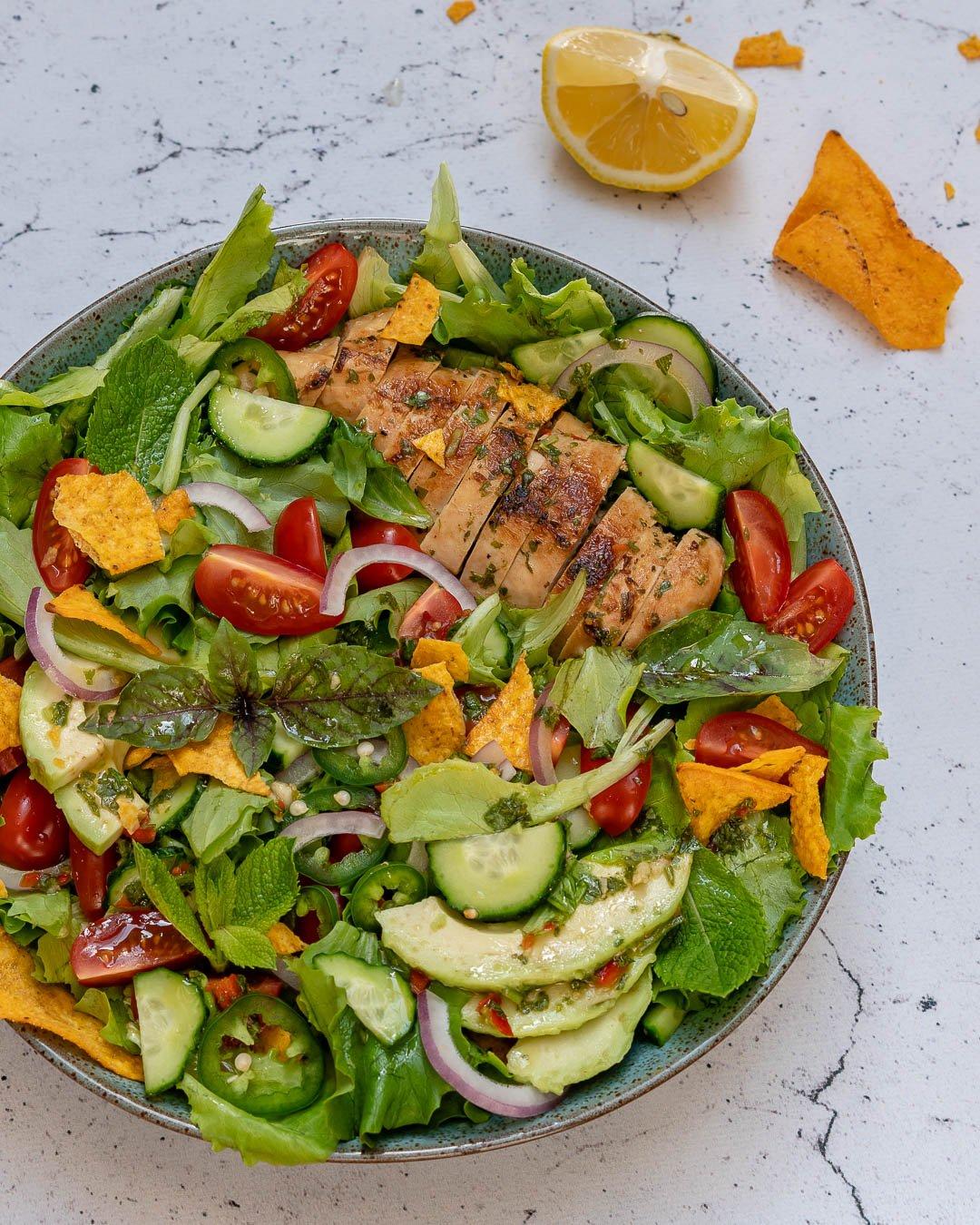 Chimichurri Chicken Avocado Salad Recipe-7