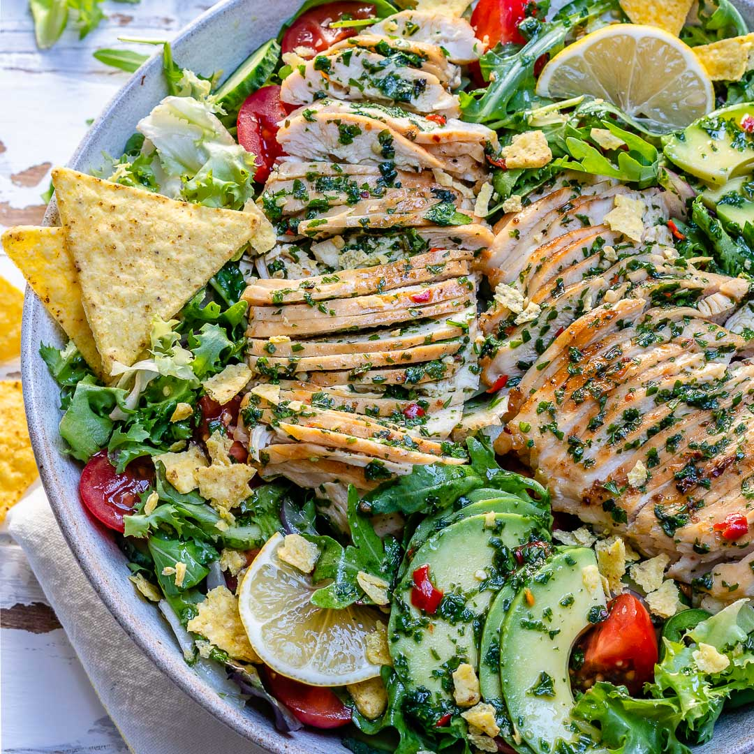 Chimichurri Chicken Avocado Salad Recipe-8