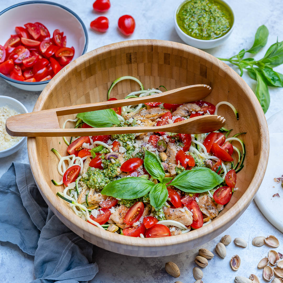 Healthy Pesto Chicken Zoodles Recipe-6