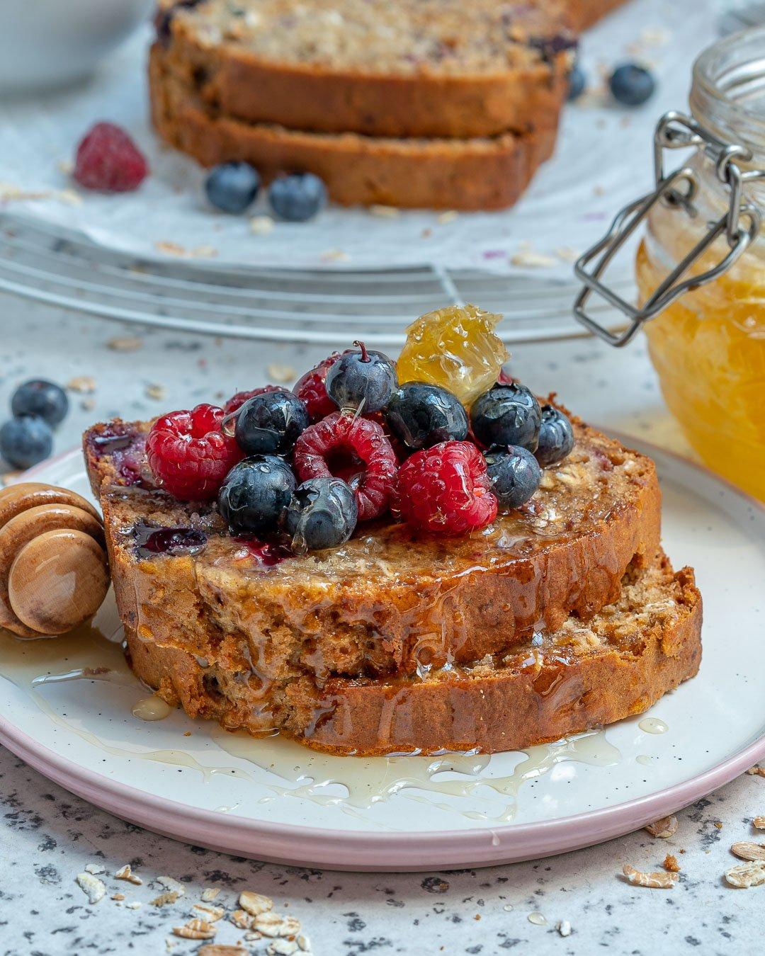 Healthy Blueberry Oatmeal Bread Recipe-10