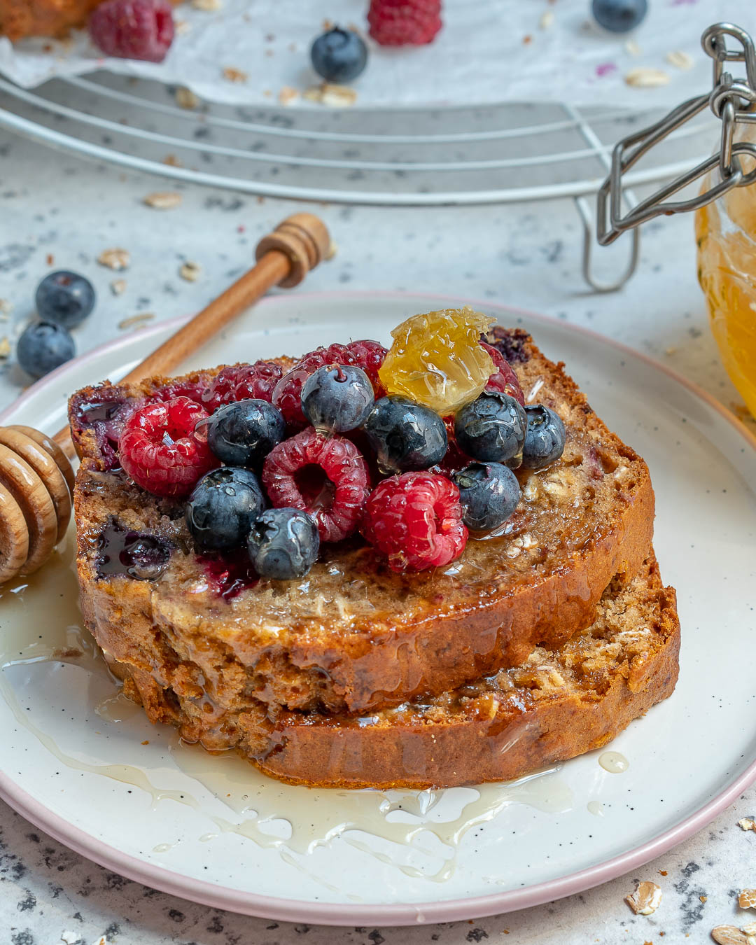 Healthy Blueberry Oatmeal Bread Recipe-11