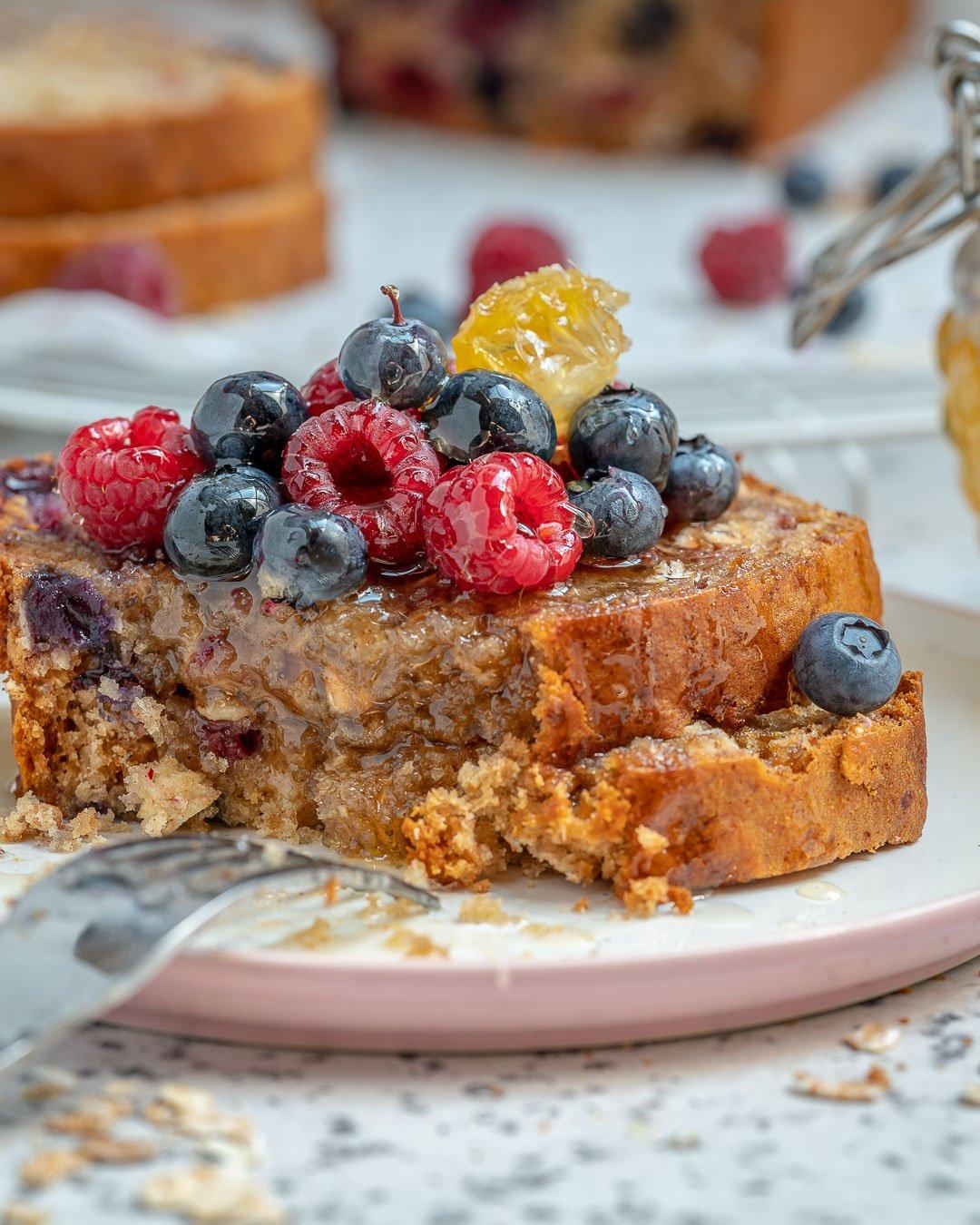 Healthy Blueberry Oatmeal Bread Recipe-14
