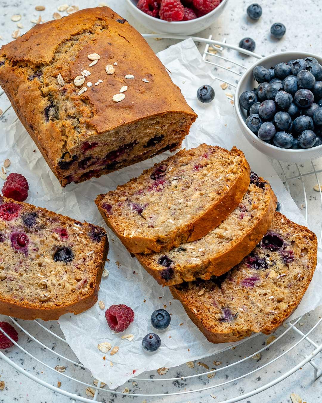 Healthy Blueberry Oatmeal Bread Recipe-3
