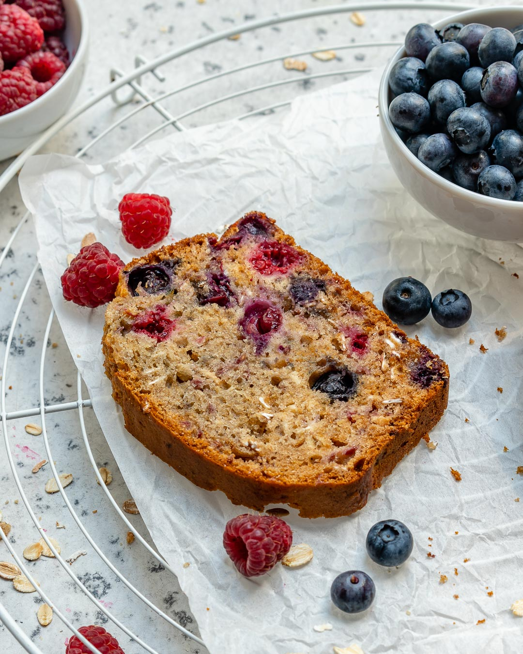 Healthy Blueberry Oatmeal Bread Recipe-5
