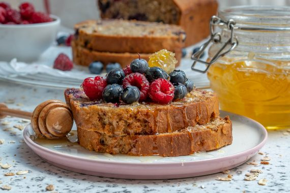 Healthy Blueberry Oatmeal Bread Recipe-7