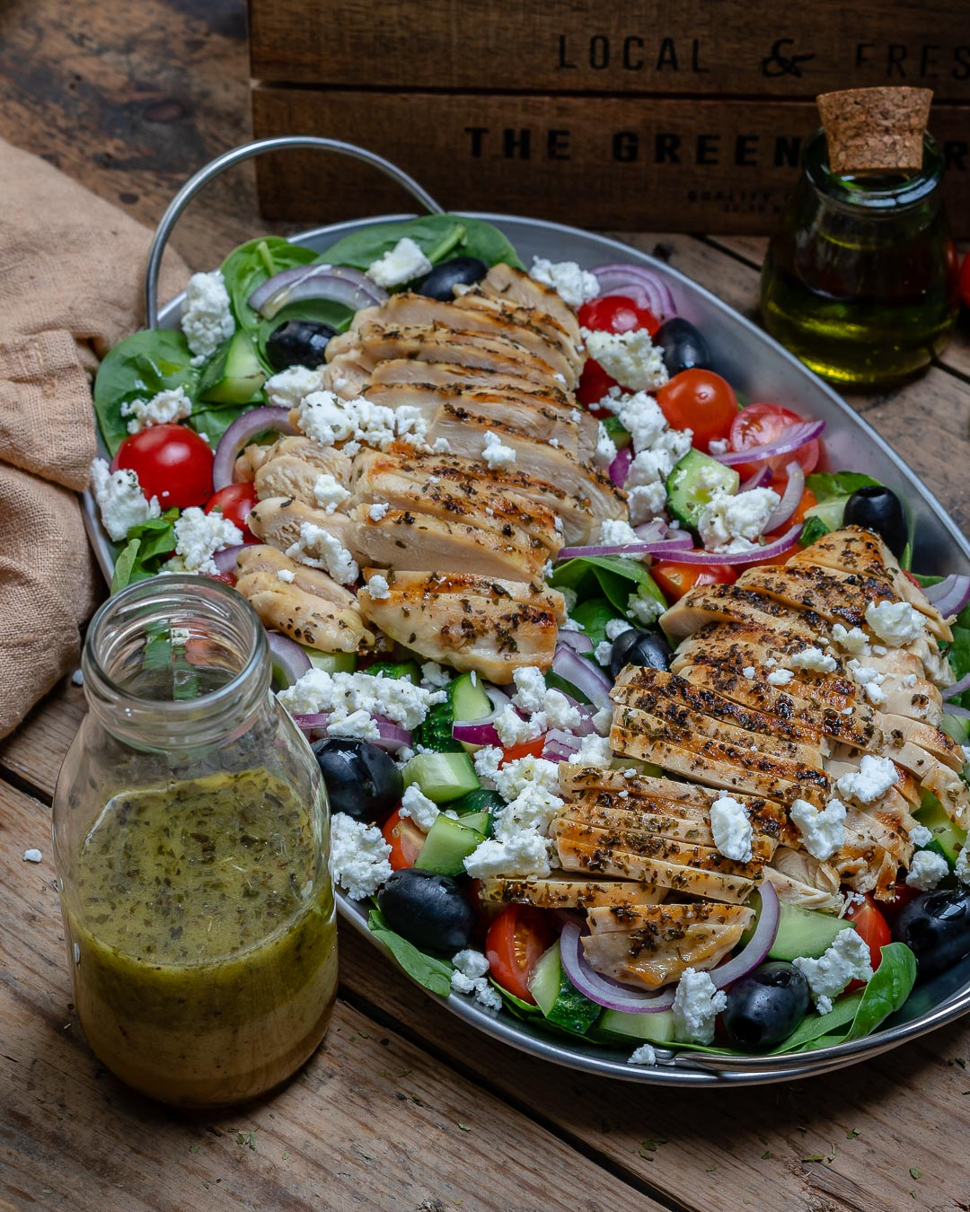 Healthy Grilled Chicken Salad Recipe Greek Style Blondelish
