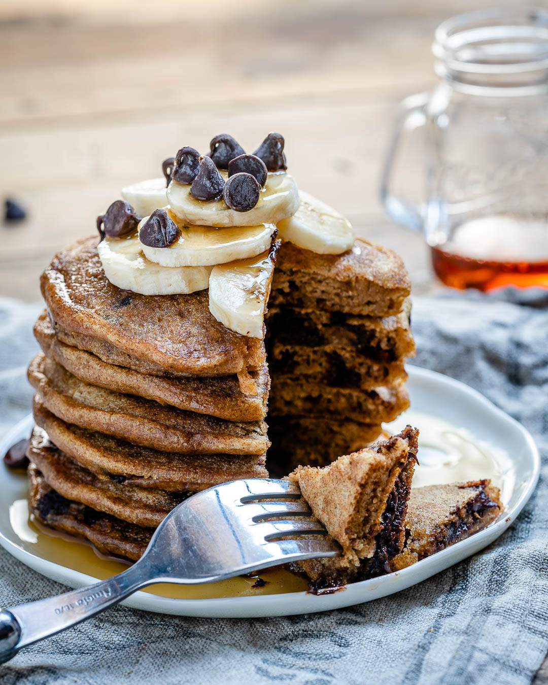 Vegan Chocolate Chip Pancakes Recipe-10