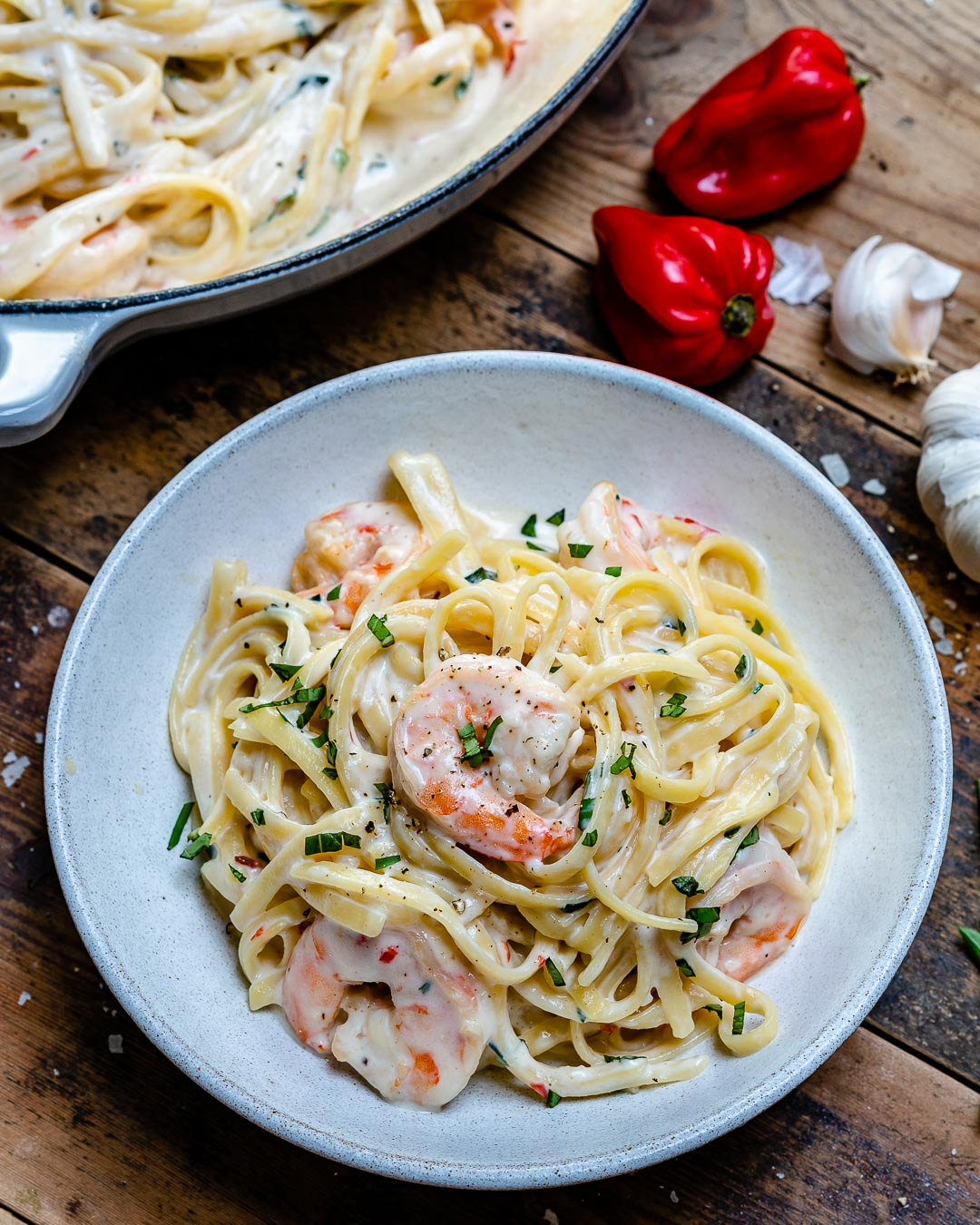 Creamy Shrimp Alfredo Pasta Recipe-17