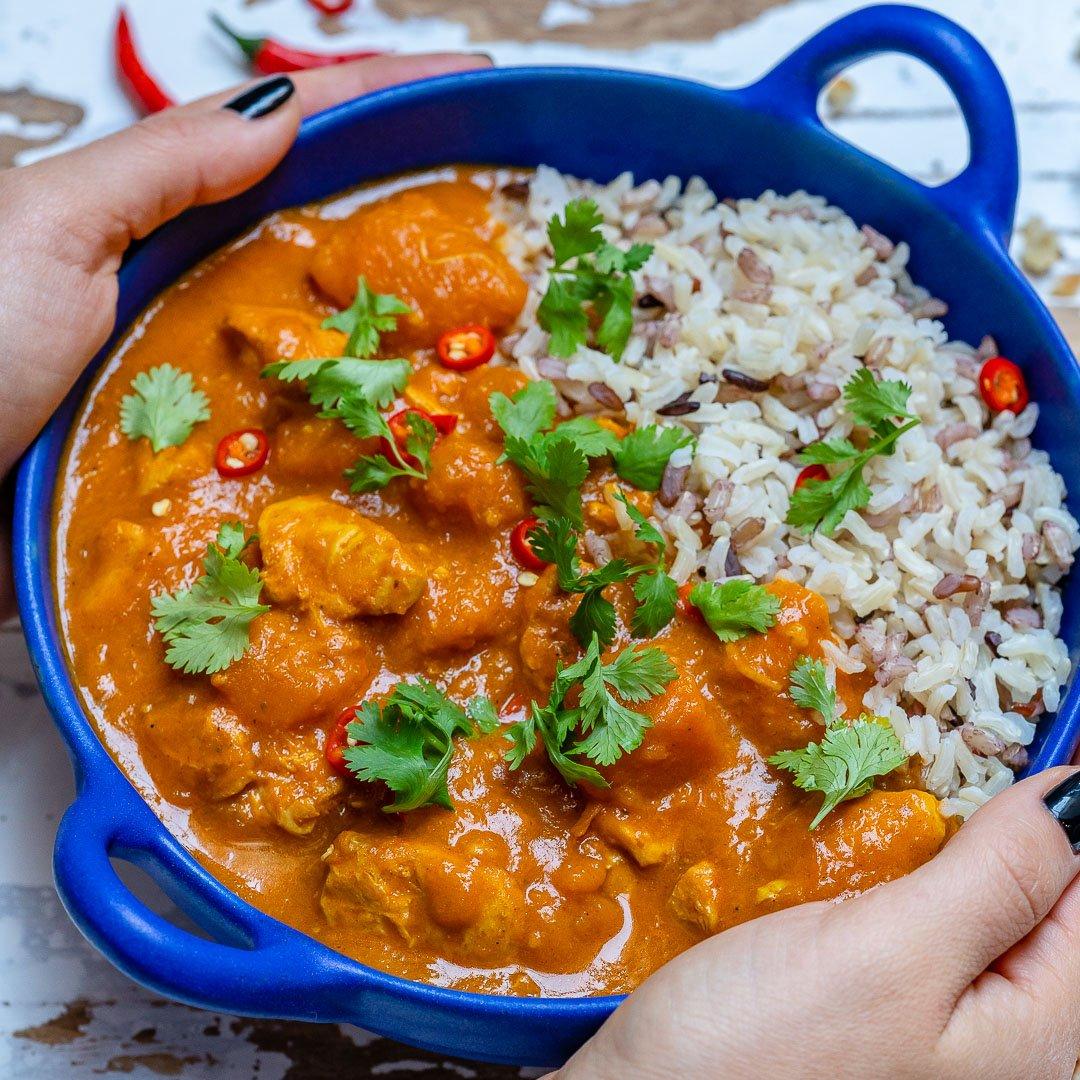 Curry De Pui Cu Lapte De Cocos Si Dovleac - Reteta Video 1