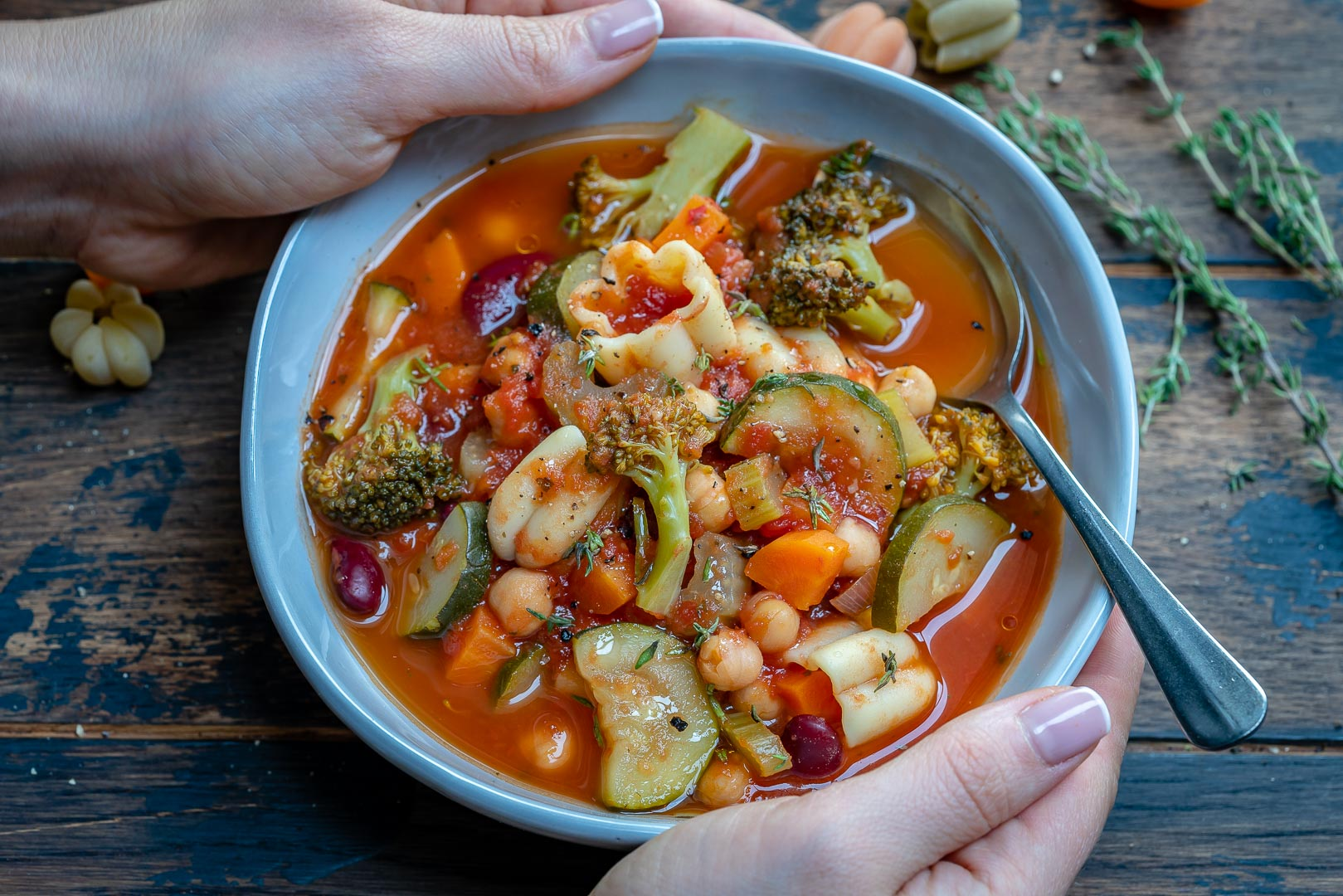 Instant Pot Vegan Minestrone Soup Recipe-12