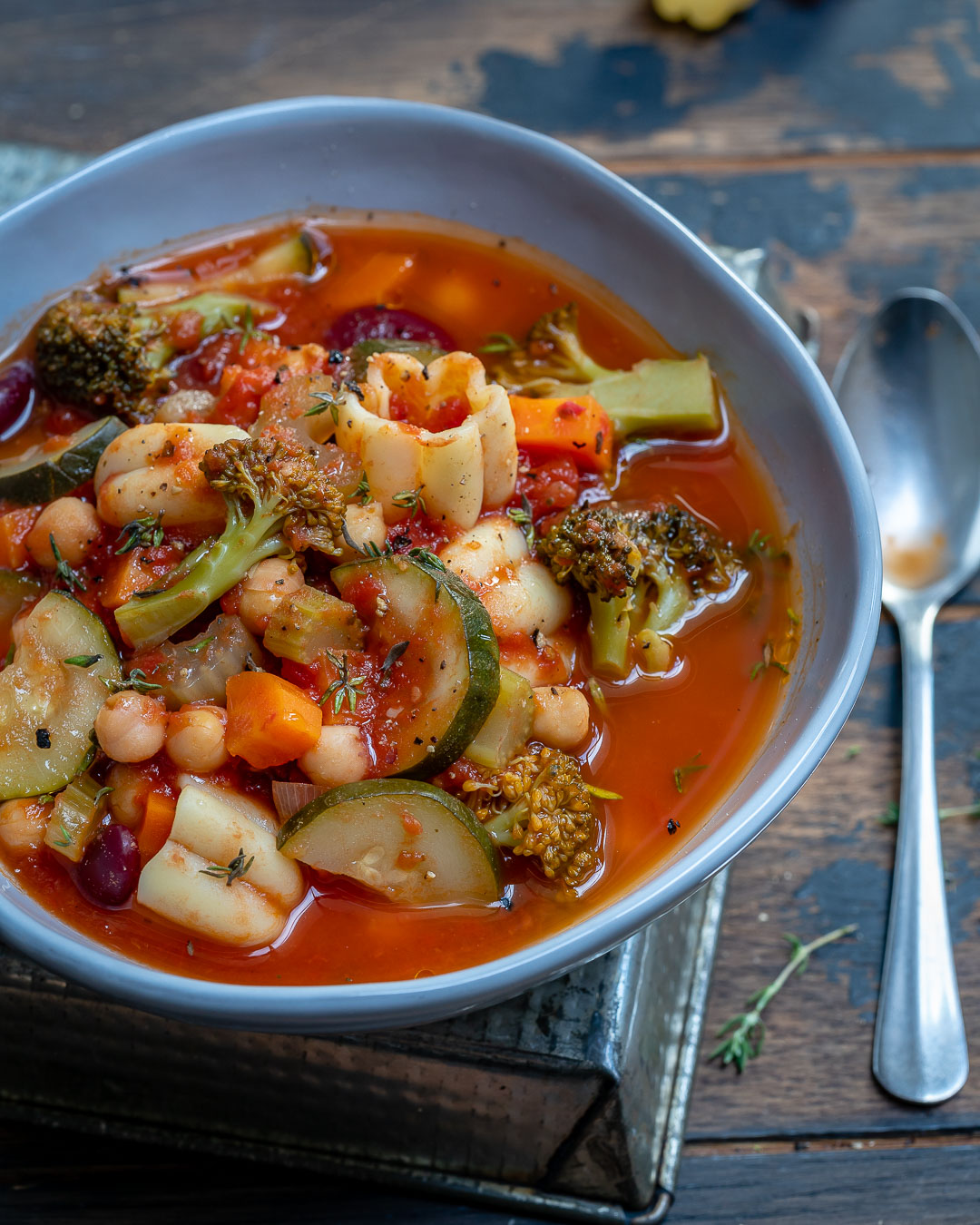 Instant Pot Vegan Minestrone Soup Recipe-15