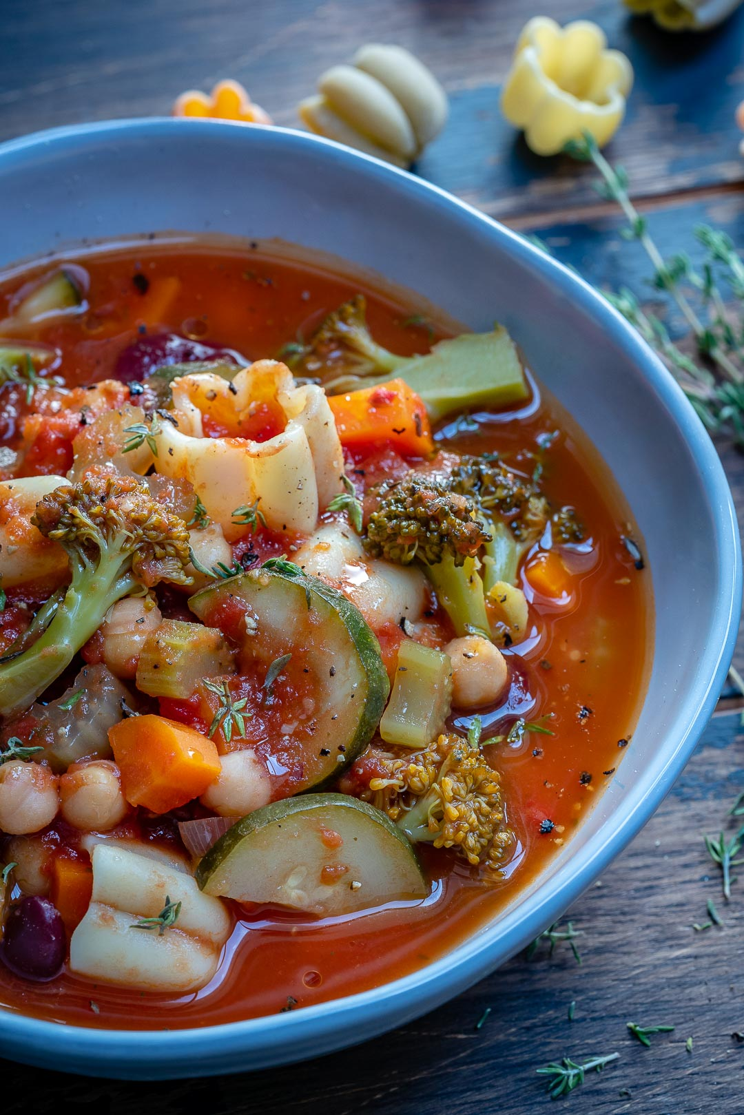 Instant Pot Vegan Minestrone Soup Recipe-7