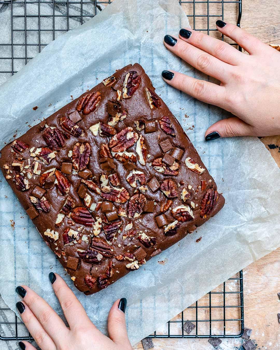 Easy Vegan Chocolate Brownies-3