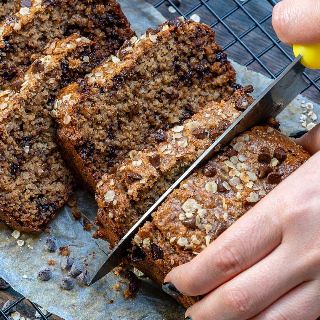 Healthy Chocolate Chip Banana Bread With Peanut Butter-13
