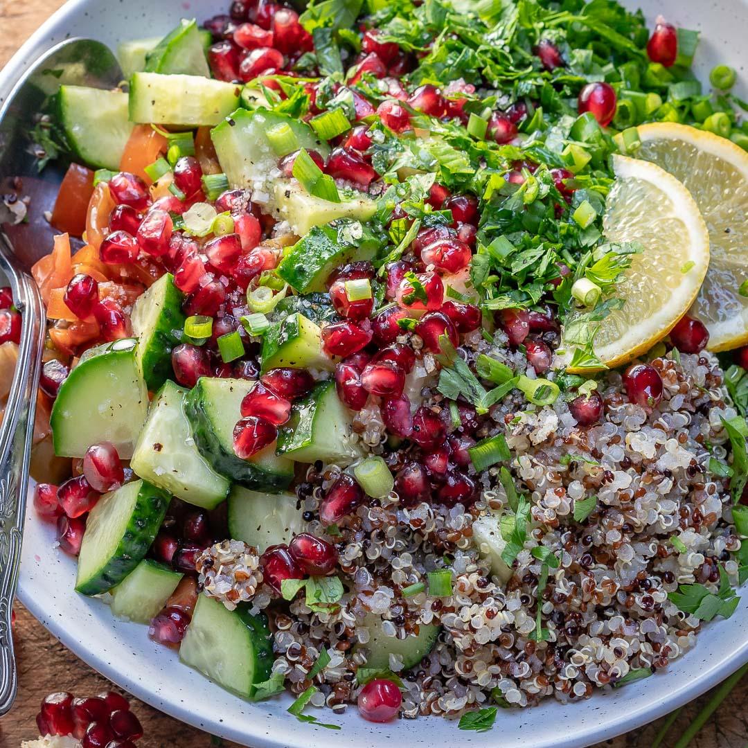 Quinoa Tabbouleh Salad Recipe-14