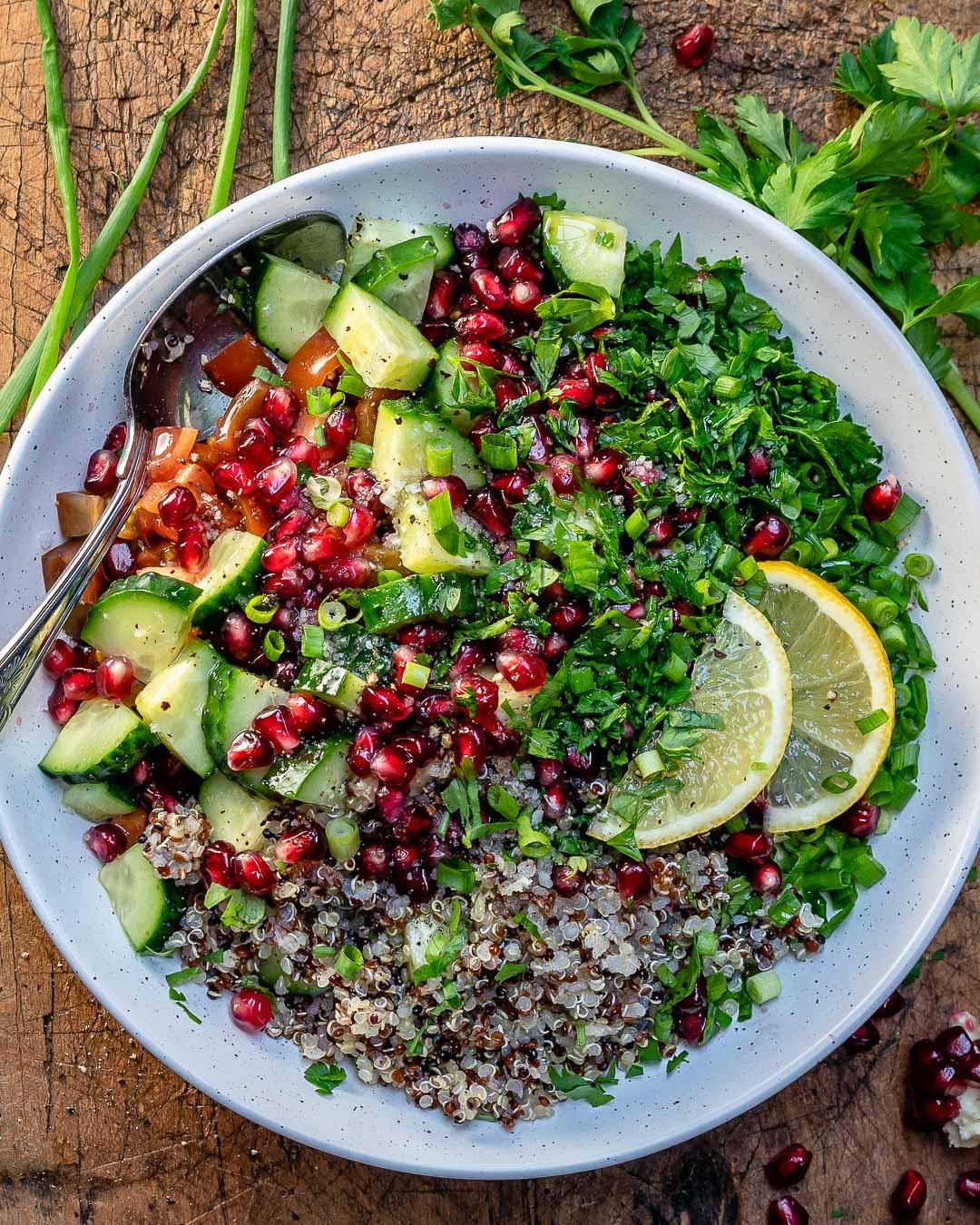 Quinoa Tabbouleh Salad Recipe-3