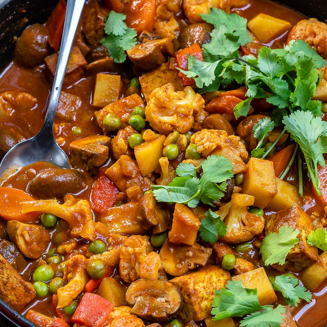 Vegan Tikka Masala Recipe With Tofu And Cauliflower-12