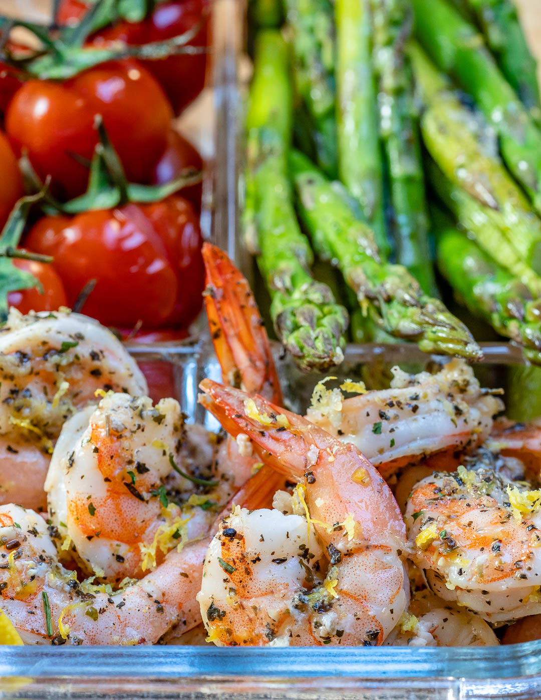 Baked Lemon Garlic Butter Shrimp And Asparagus - Recipe Video-13