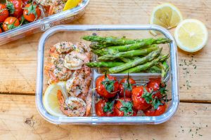 Baked Lemon Garlic Butter Shrimp And Asparagus - Recipe Video-8
