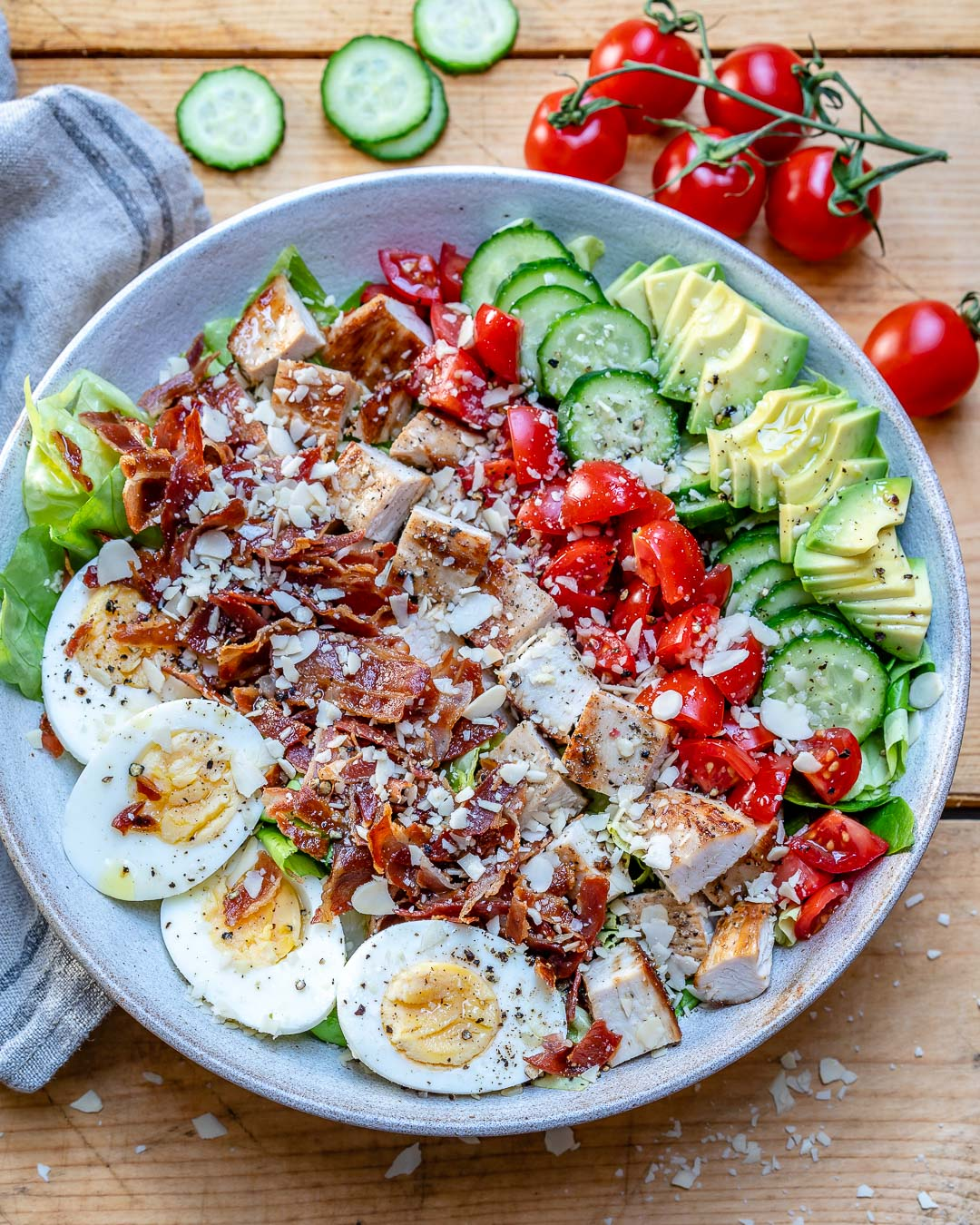 Easy Turkey Cobb Salad Recipe-10