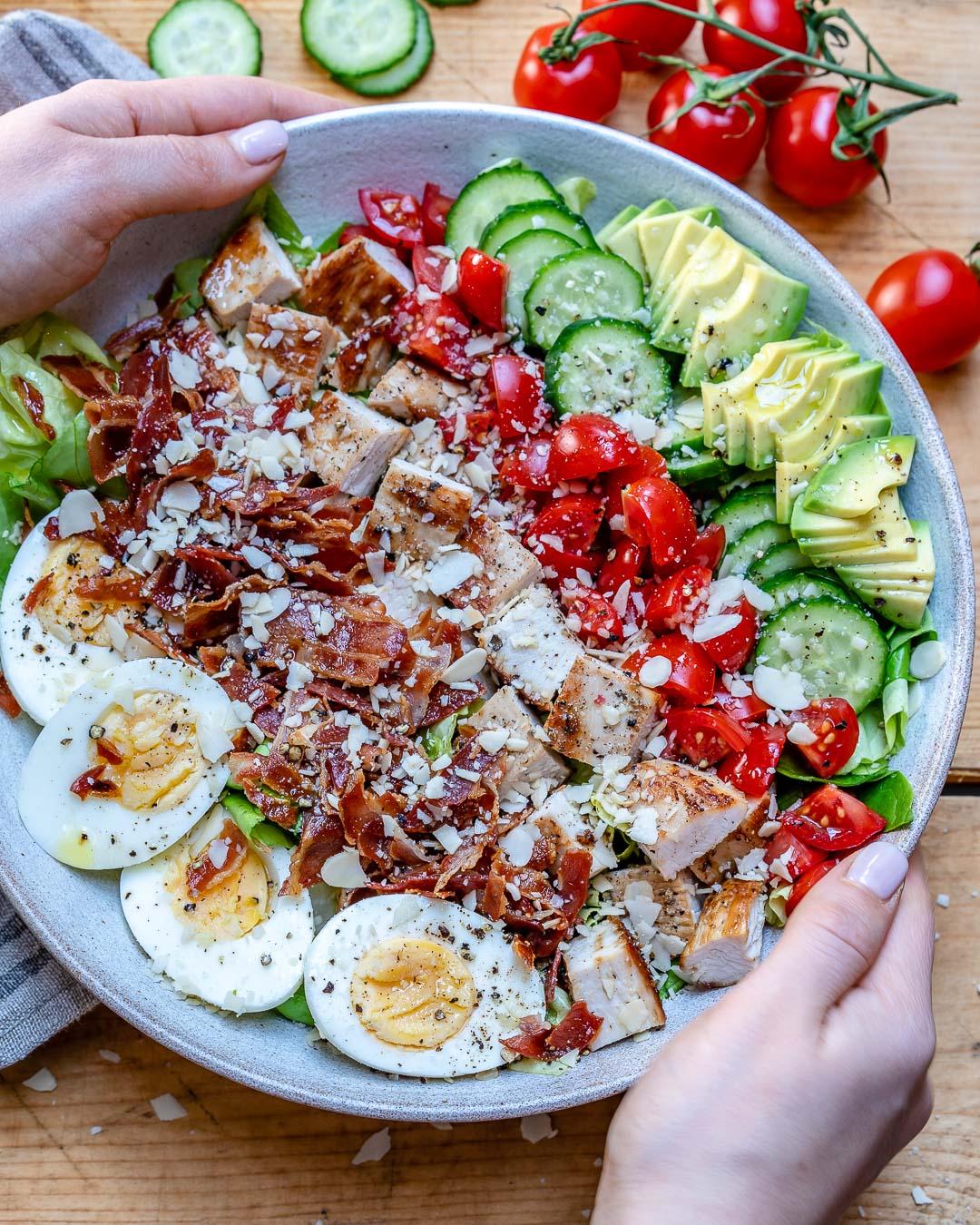 Easy Turkey Cobb Salad Recipe-11