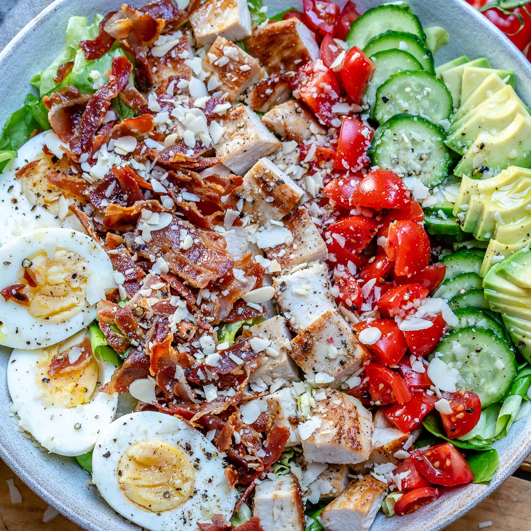 Easy Turkey Cobb Salad Recipe-18