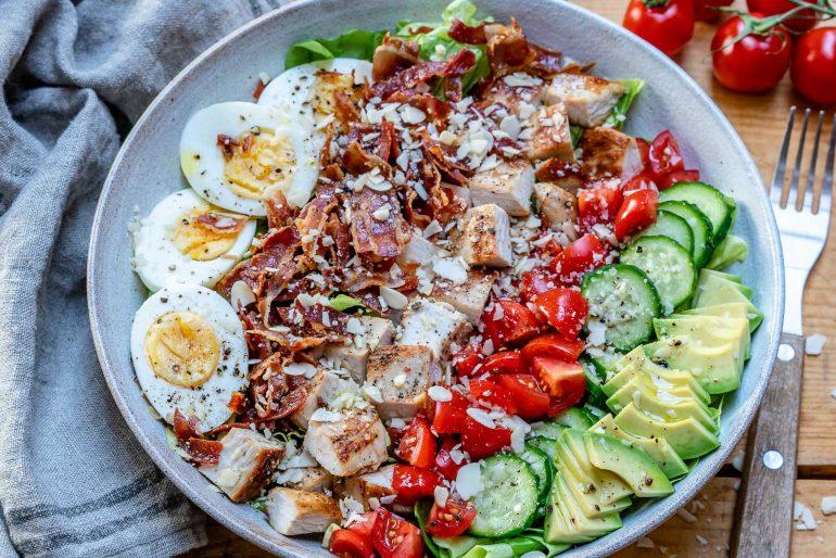 Easy Turkey Cobb Salad Recipe-22