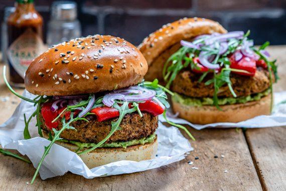 Easy Veggie Burger Recipe (Vegan & Healthy)-9