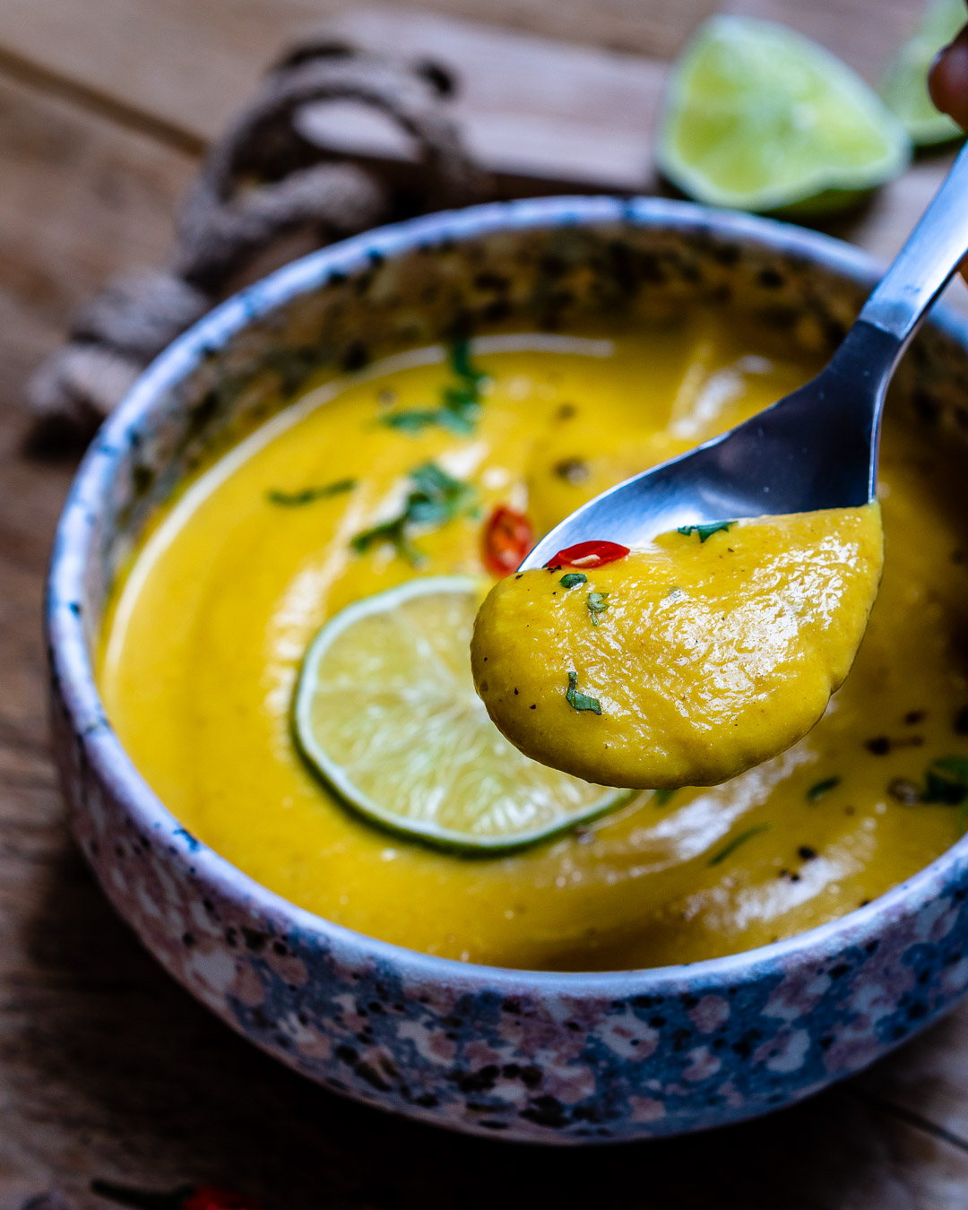 Curried Cauliflower Soup With Coconut Milk (Paleo Recipe)-22