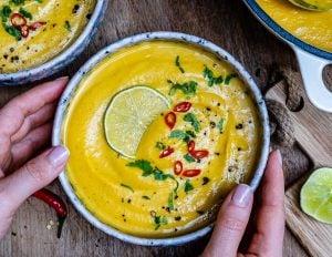 Curried Cauliflower Soup With Coconut Milk (Paleo Recipe) 24