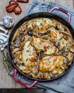 Easy Creamy Chicken Mushroom Recipe (Keto)-7