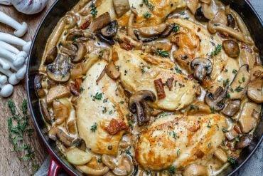 Easy Creamy Chicken Mushroom Recipe (Keto)-8