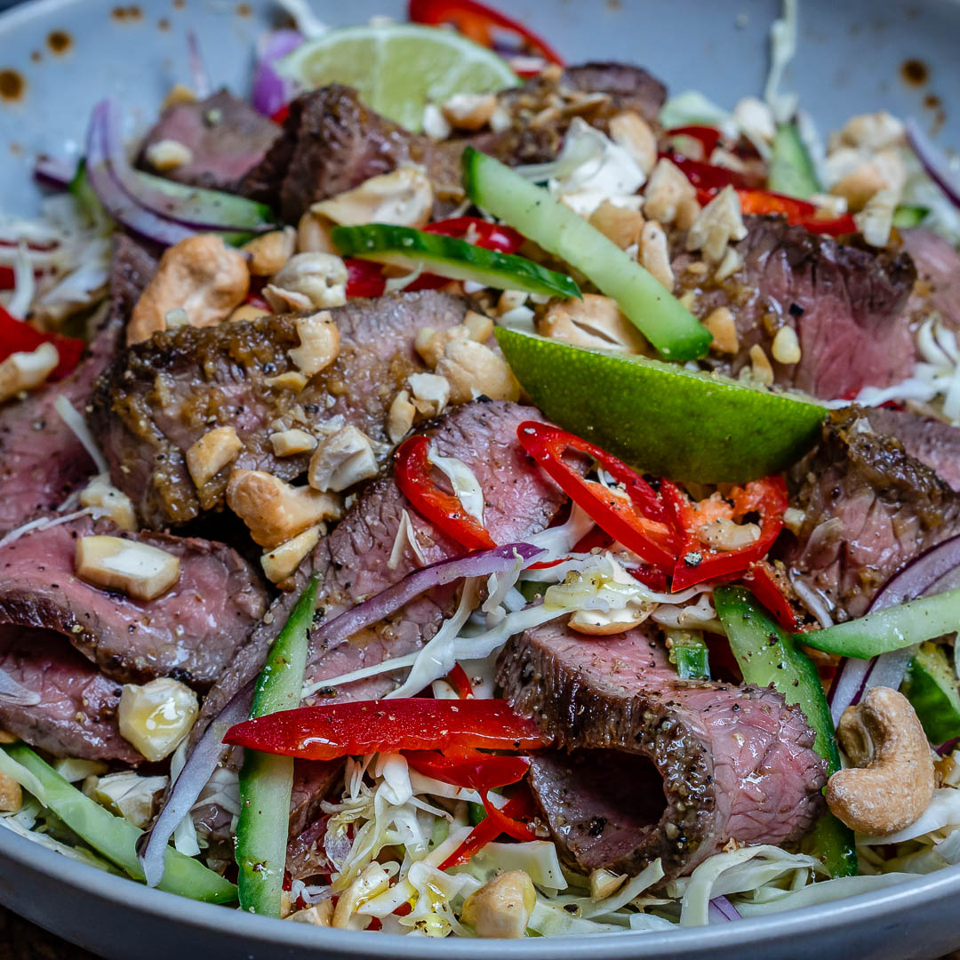 Easy Thai Beef Salad Recipe (Keto/Paleo/Whole30)-12
