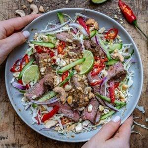 Easy Thai Beef Salad Recipe (Keto/Paleo/Whole30)-7