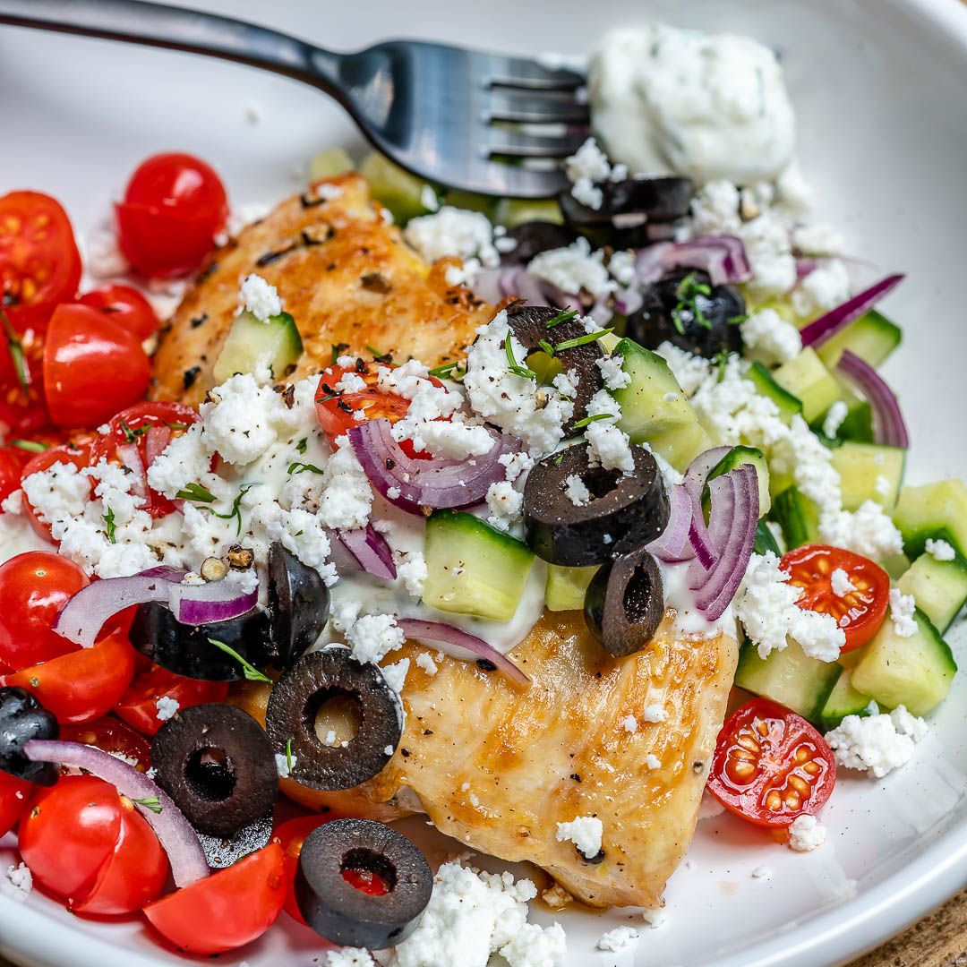 Greek Chicken With Tzatziki Sauce (Keto Recipe)-10
