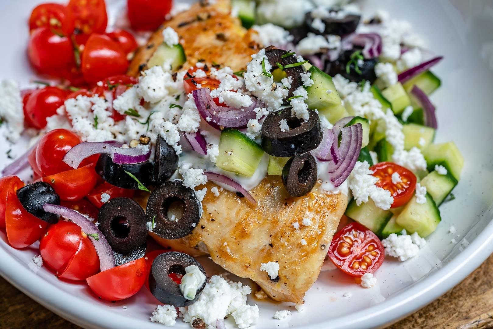 Greek Chicken With Tzatziki Sauce (Keto Recipe)-11