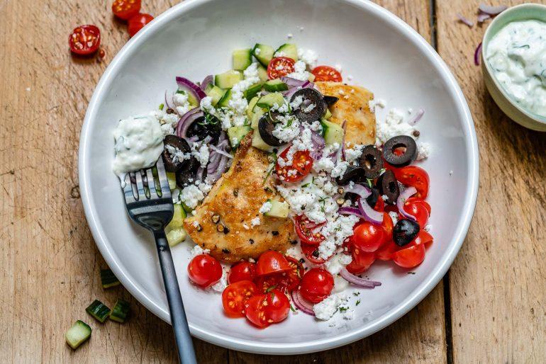 Greek Chicken With Tzatziki Sauce (Keto Recipe)-4